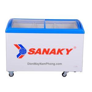 Tủ đông Sanaky VH-402KW 312 lít kính cong cửa lùa 2 ngăn đông mát