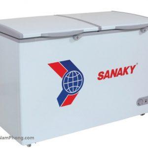 Bên ngoài tủ đông Sanaky VH-405A2 305 lít, 1 ngăn đông 2 cánh mở