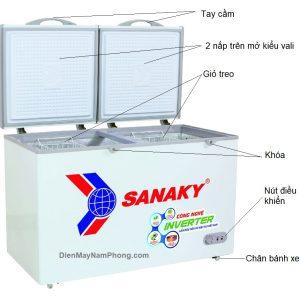 Tủ đông Sanaky VH-2899A3 235 lít Inverter, 1 ngăn đông 2 cánh
